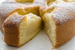 Torta morbida con crema al latte di riso   plumcake
